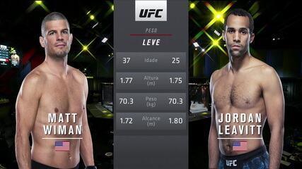 UFC Hermansson x Vettori - Matt Wiman x Jordan Leavitt