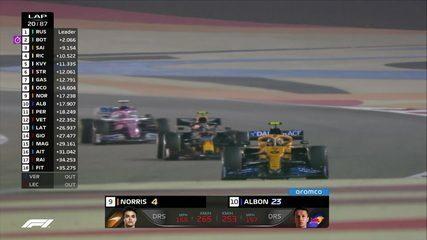 Sakhir GP: Albon e Pérez ultrapassam Norris