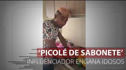 Influenciador digital colombiano engana idosos e moradores de rua com 'picolé de sabonete'