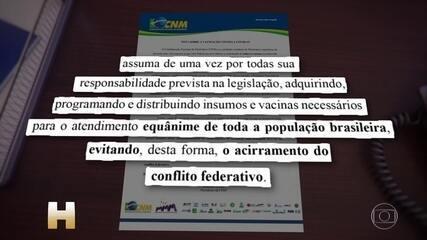 Pazuello e governadores discutem sobre vacinação contra a Covid-19