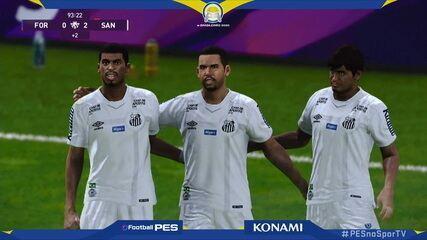 Gols de Sapo (Fortaleza) 0 x 2 GuiFera (Santos) pelo jogo de ida da final do e-Brasileirão