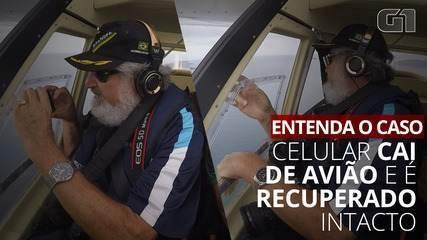VÍDEO: Celular despenca de avião e dono consegue recuperar no dia seguinte