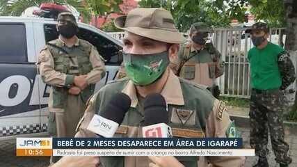 Saiba como devem ser as buscas por bebê desaparecido em igarapé de Manaus