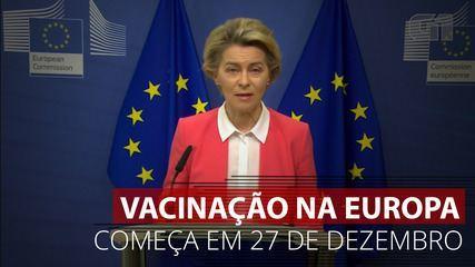 VÍDEO: Vacinação na Europa começa dia 27 de dezembro, segundo presidente de comissão
