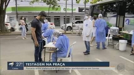 Parceria entre prefeitura e Ufla testa população contra a Covid-19 em Lavras (MG)