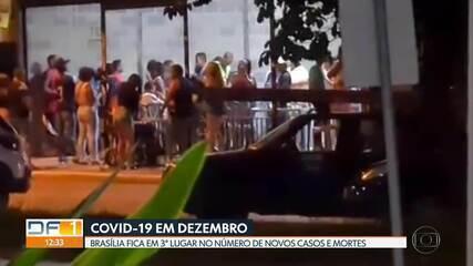Brasília é a 3ª cidade com o maior número de novos casos e mortes pela covid-19
