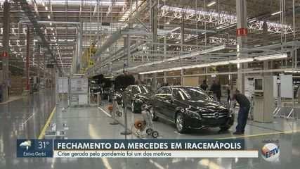 Mercedes-Benz fecha fábrica em Iracemápolis e encerra produção de automóveis no Brasil