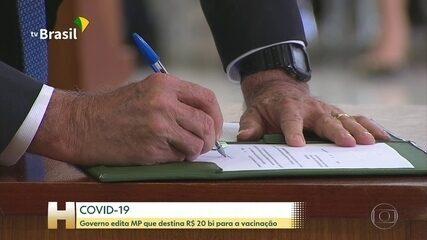 Bolsonaro edita MP com R$ 20 bilhões para o plano de vacinação contra a Covid-19