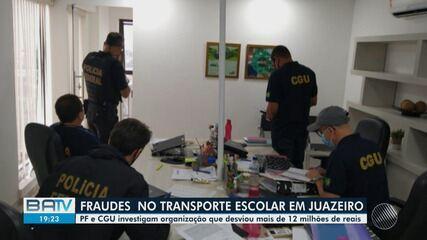 PF faz operação contra desvios de verba do transporte escolar em Juazeiro, na BA