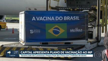 Capital apresenta plano de vacinação ao Ministério Público; em 24 horas, estado tem 10 mil novos casos de Covid-19
