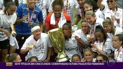 Sete títulos em cinco anos: Corinthians fatura Paulistão feminino