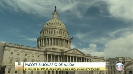 Congresso dos EUA chega a acordo para novo plano de ajuda econômica