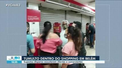 Tumulto no shopping Pátio Belém causa correria e assusta clientes