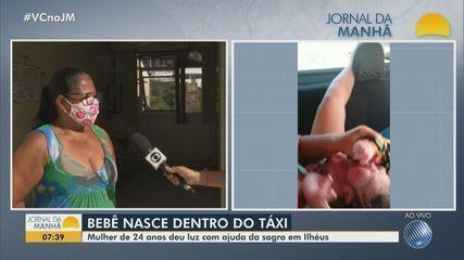 Mulher dá a luz dentro de taxi no sul da BA; quem fez o parto foi a mãe da passageira