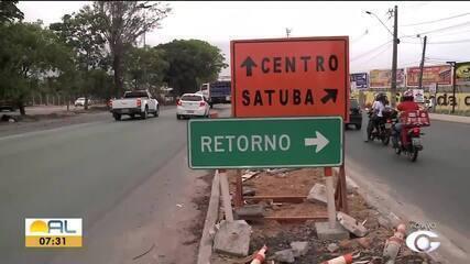 Parte do viaduto da PRF é liberada, mas trecho mal sinalizado gera confusão no trânsito