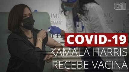 VÍDEO: Kamala Harris agradece após receber vacina contra Covid-19