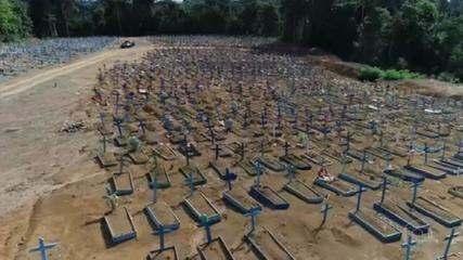 Prefeitura de Manaus vai aumentar número de gavetas em cemitério por causa da Covid