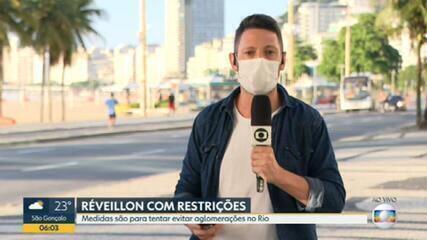 Réveillon no Rio será diferente, com restrições para festas