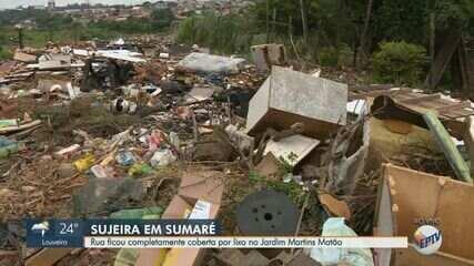 Moradores de Sumaré reclamam de lixão irregular em bairro