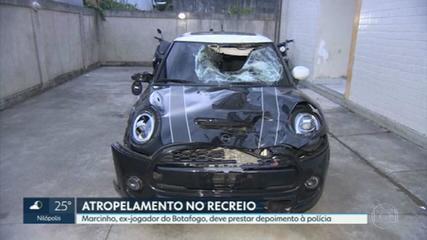 Jogador Marcinho deve prestar depoimento à polícia sobre atropelamento