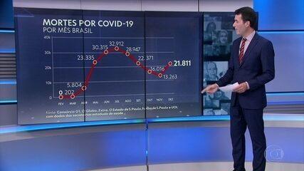 Número de mortes por Covid no Brasil volta a subir em dezembro