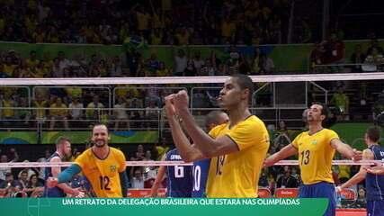 Um retrato da delegação brasileira que estará nas Olimpíadas