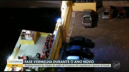 Estabelecimentos da região de Campinas descumprem decreto da fase vermelha