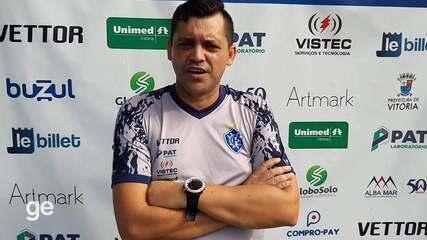 Técnico Cláudio Roberto fala de como será a preparação do Vitória-ES para a Copa verde