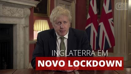 Boris Johnson anuncia novo lockdown na Inglaterra