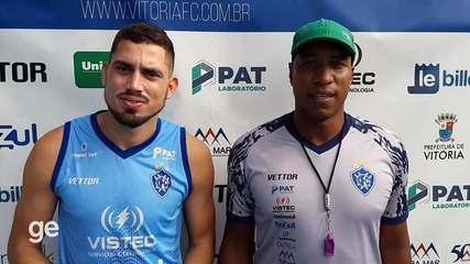 Hoje juntos no Vitória-ES, Rael e Rodrigo César relembram famoso meme