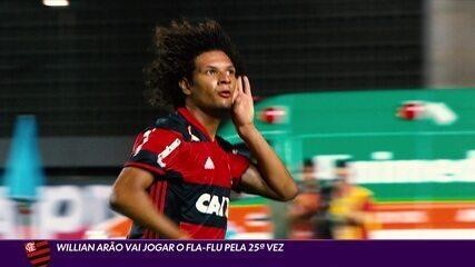 Willian Arão vai jogar o Fla-Flu pela 25ª vez