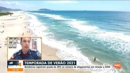 Bombeiros de SC registram queda de 40% no número de afogamentos em 2021