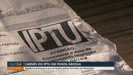 Carnês do IPTU em Ponta Grossa começam a ser distribuídos pelos Correios em fevereiro