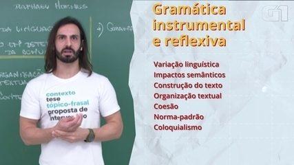 Enem 2020: tire dúvidas sobre gramática instrumental e reflexiva