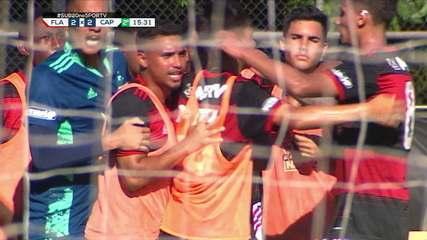 Os gols de Flamengo 2x2 Athletico, pela semifinal do Brasileiro sub-20