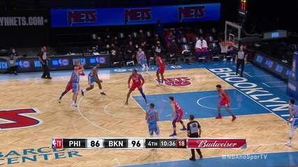 Melhores momentos: Brooklyn Nets 122 x 109 Philadelphia 76ers, pela NBA