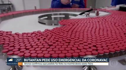 Instituto Butantan pede à Anvisa autorização para uso emergencial da coronavac