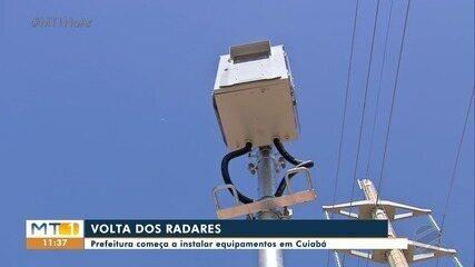 Prefeitura começa a reinstalar radares em Cuiabá