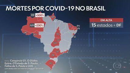 Brasil registra o maior número diário de mortes por Covid dos últimos cinco meses