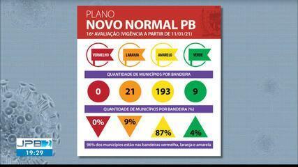 16ª avaliação do governo mostra que Paraíba não tem nenhuma cidade em bandeira vermelha
