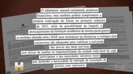 Justiça nega pedido para adiar o Enem 2020