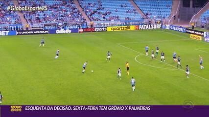 Nesta sexta-feira, Grêmio e Palmeiras se enfrentam em uma prévia da Copa do Brasil