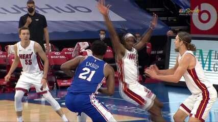 Melhores momentos: Philadelphia 76ers 137 x 134 Miami Heat pela NBA