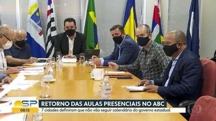 Cidades do ABC paulista contrariam governo de SP e adiam aulas presenciais