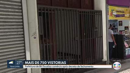 Prefeitura de BH faz mais de 750 vistorias em 2 dias de fechamento do comércio