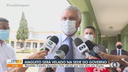 Governador Ronaldo Caiado explica como será organização para velório de Maguito Vilela