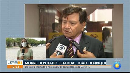 Morre deputado estadual paraibano João Henrique por complicações da Covid-19