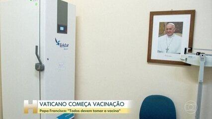 Vaticano começa a vacinação contra a Covid-19