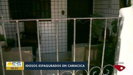 Casal de idosos foi esfaqueado por homem em Cariacica