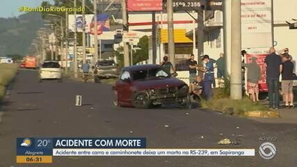 Acidente entre carro e caminhonete deixa um morto na ERS-239, em Sapiranga